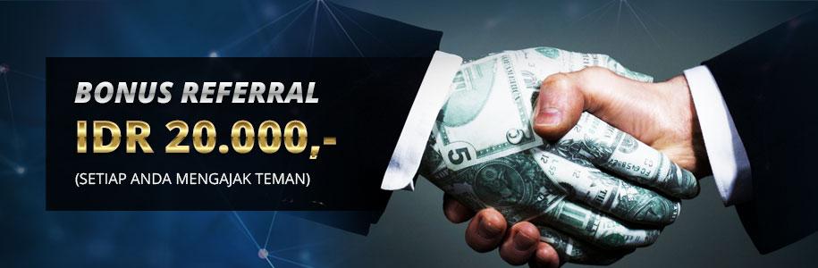 Bonus Referral Rp. 20.000,-